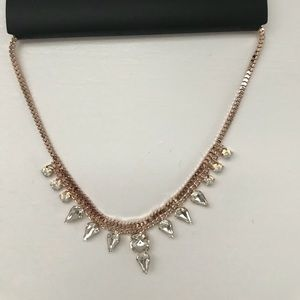 Rose Gold Rhinestone Necklace